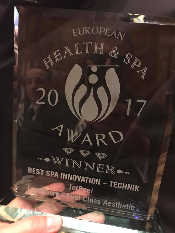 HEALTH & SPA AWARD goes to JetPeel™