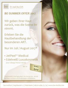 Sommeraktion JetPeel™ Medical
