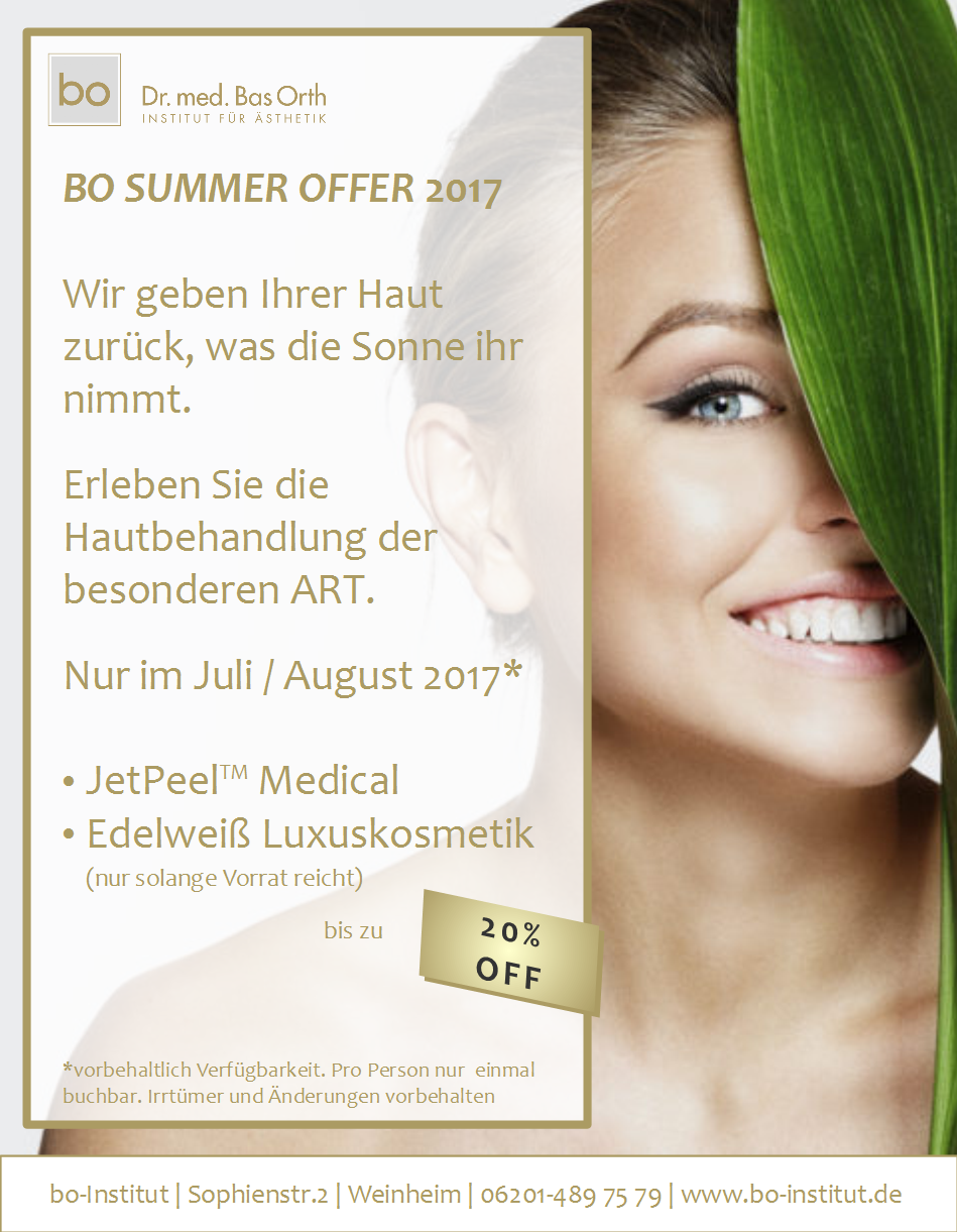 Sommeraktion JetPeel™ Medical